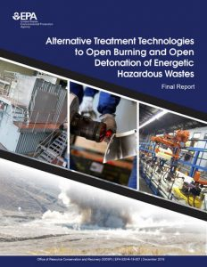 US EPA Final Report - Alternative Treatment Technologies to Open Burn and Open Detonation of Energetic Hazardous Wastes