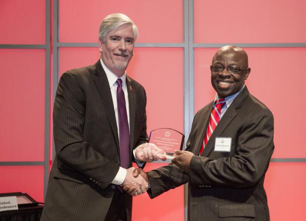 Dr Nzengung receives award